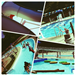 Collage of Different Pools and Lazy River