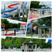 Collage of  Slides, Splash Pad and Sapphire Bay