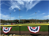 Baseball Field and Patriotic Flags