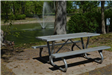 Picnic Table and Fountain