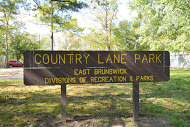 Country Lane Park Sign