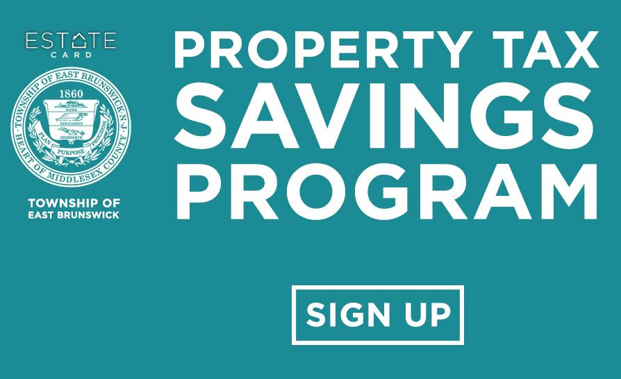 Resident (home-owner) sign up for property tax savings program - Button