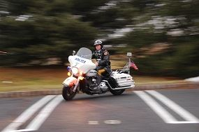 Motorcycle Officer on Motorcycle
